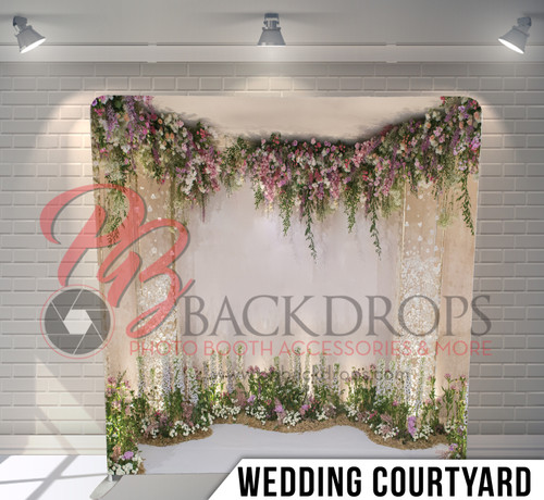 Single-sided Pillow Cover Backdrop  (Wedding Courtyard)