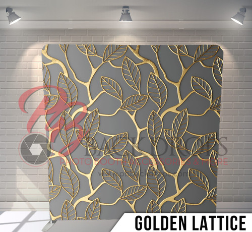 Single-sided Pillow Cover Backdrop  (Golden Lattice)