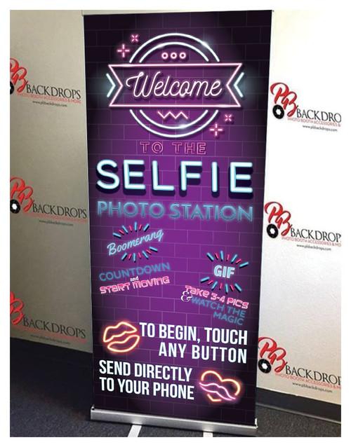 Selfie Station Bright #2 Retractable Banner