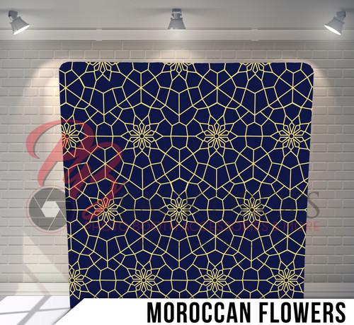 Single-sided Pillow Cover Backdrop  (Moroccan Flowers)