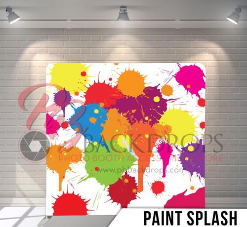 8x8 Printed Tension fabric backdrop (Paint Splash)