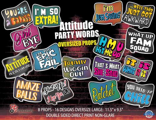 Oversized Attitude Party Words Bundle