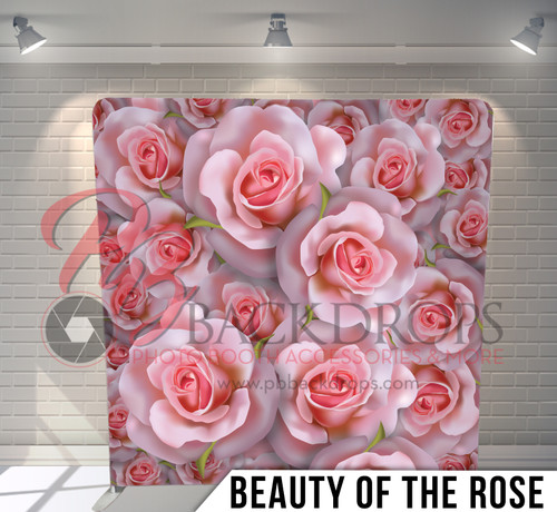 Single-sided Pillow Cover Backdrop  (Beauty of the Rose)