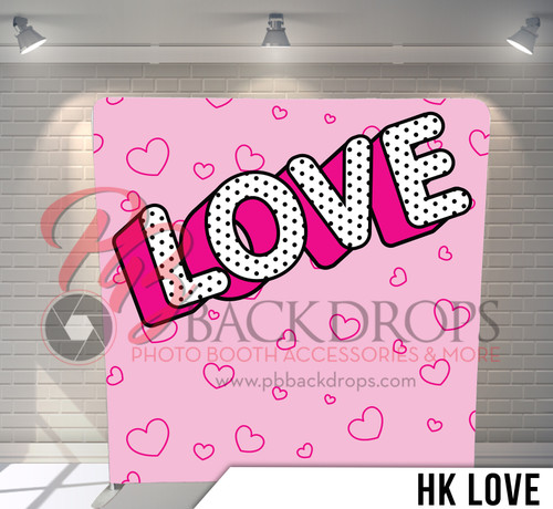 Single-sided Pillow Cover Backdrop  (HK Love)