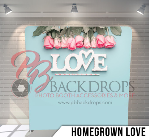 Single-sided Pillow Cover Backdrop  (Homegrown Love)