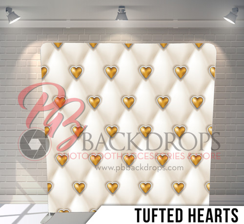 Single-sided Pillow Cover Backdrop  (Tufted Hearts)