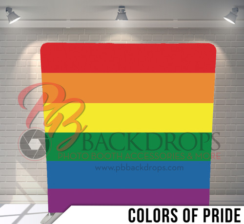 Single-sided Pillow Cover Backdrop  (Colors of Pride)