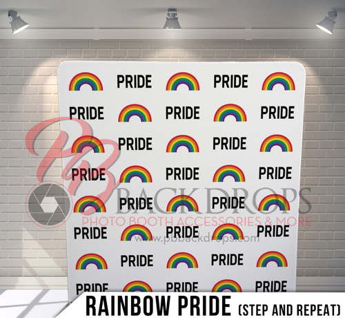 Single-sided Pillow Cover Backdrop  (Rainbow Pride Step n Repeat)