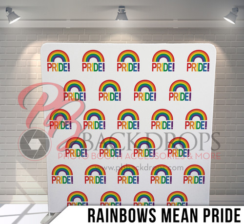 Single-sided Pillow Cover Backdrop  (Rainbows Mean Pride)
