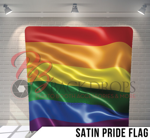Single-sided Pillow Cover Backdrop  (Satin Pride Flag)