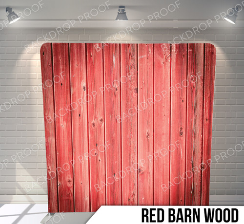 Single-sided Pillow Cover Backdrop  (Red Barn Wood)