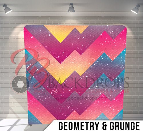 Single-sided Pillow Cover Backdrop  (Geometry and Grundge)