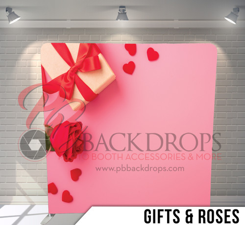 Single-sided Pillow Cover Backdrop  (Gifts and Roses)