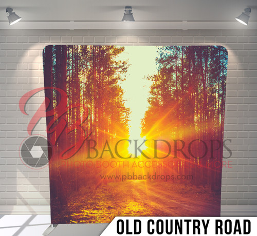 Single-sided Pillow Cover Backdrop  (Old Country Road)