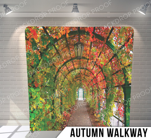 Single-sided Pillow Cover Backdrop  (Autumn Walkway)