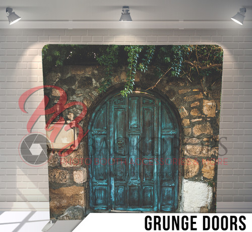 Single-sided Pillow Cover Backdrop  (Grunge Doors)