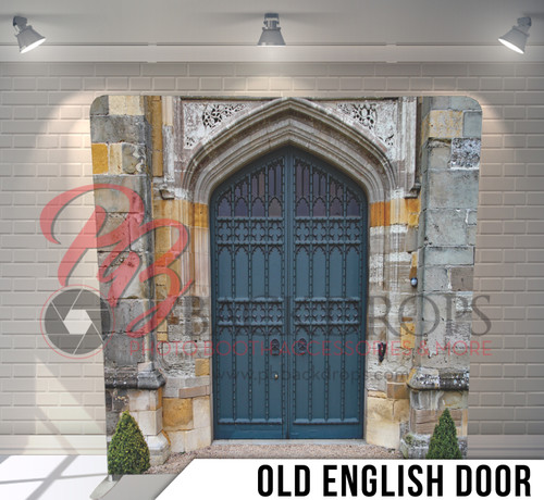 Single-sided Pillow Cover Backdrop  (Old English Door)