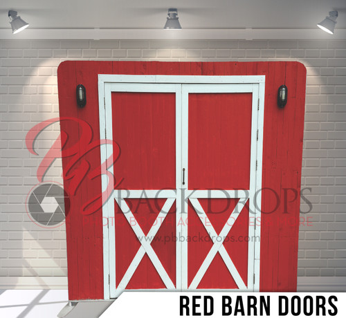 Single-sided Pillow Cover Backdrop  (Red Barn Doors)
