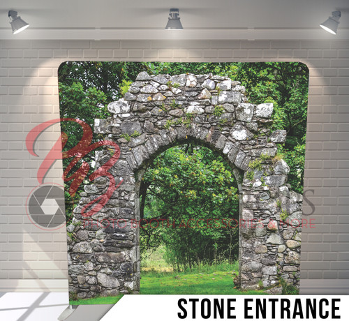 Single-sided Pillow Cover Backdrop  (Stone Entrance)