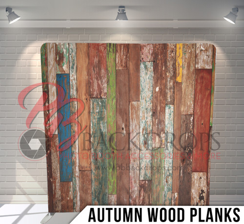 Single-sided Pillow Cover Backdrop  (Autumn Wood Planks)