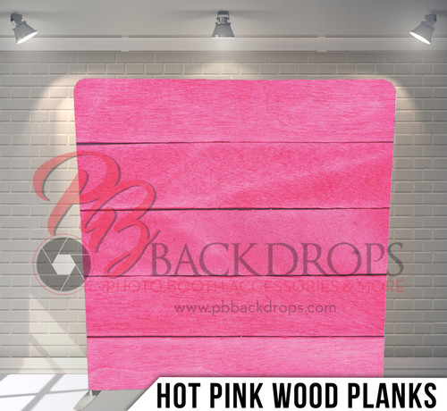 Single-sided Pillow Cover Backdrop  (Hot Pink Wood Planks)