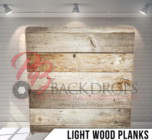 Single-sided Pillow Cover Backdrop  (Light Wood Planks)