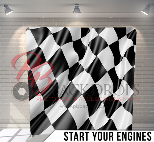 Single-sided Pillow Cover Backdrop  (Start Your Engines)