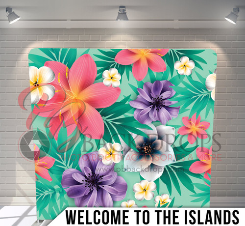 Single-sided Pillow Cover Backdrop  (Welcome to the Islands)