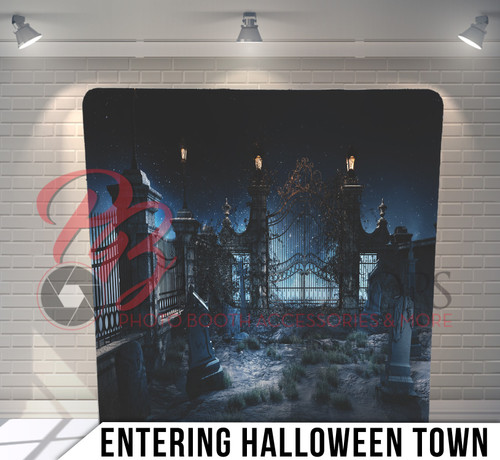 Single-sided Pillow Cover Backdrop  (Entering Halloween Town)