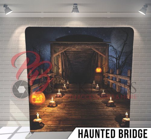 Single-sided Pillow Cover Backdrop  (Haunted Bridge)