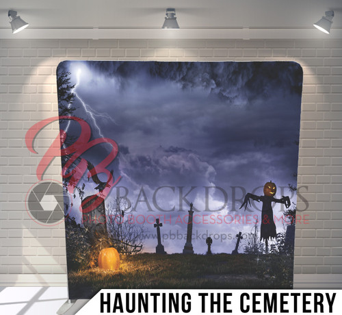 Single-sided Pillow Cover Backdrop  (Haunting the Cemetary)