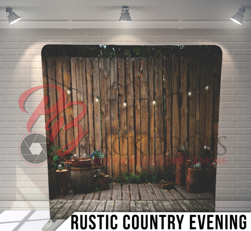 Single-sided Pillow Cover Backdrop  (Rustic Country Evening)