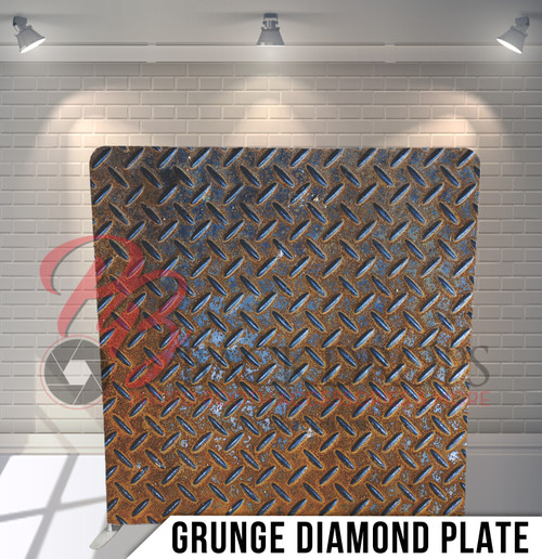 Single-sided Pillow Cover Backdrop  (Grunge Diamond Plate)