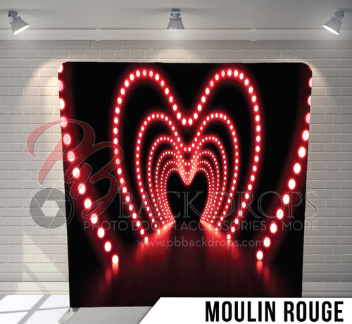 Single-sided Pillow Cover Backdrop  (Moulin Rouge)