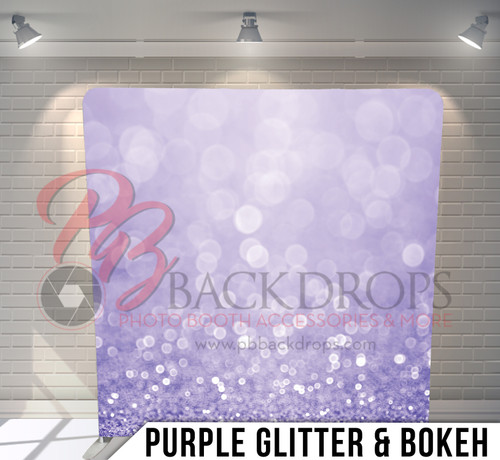 Single-sided Pillow Cover Backdrop  (Purple Glitter and Bokeh)