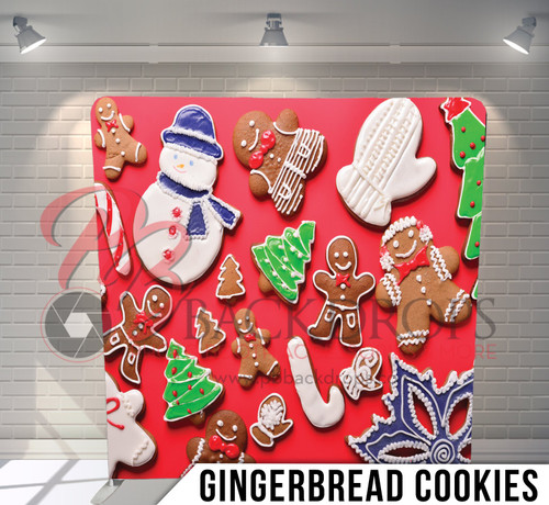 Single-sided Pillow Cover Backdrop  (Gingerbread Cookies)