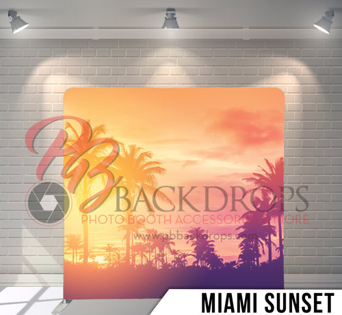 Single-sided Pillow Cover Backdrop  (Miami Sunset)