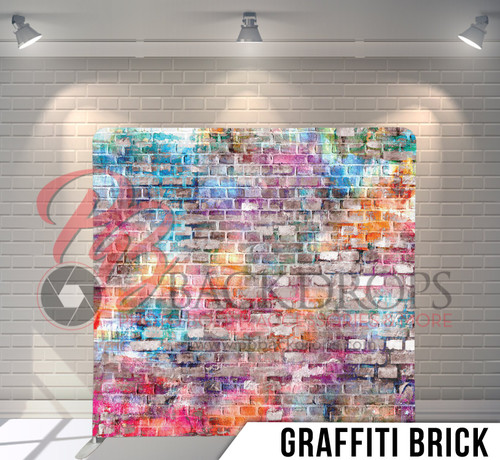 Single-sided Pillow Cover Backdrop  (Graffiti Brick)