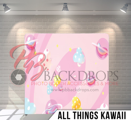 Single-sided Pillow Cover Backdrop  (All Things Kawaii)