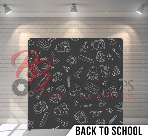 Single-sided Pillow Cover Backdrop  (Back to School)