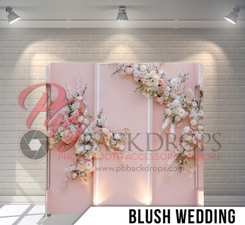 Single-sided Pillow Cover Backdrop  (Blush Wedding)