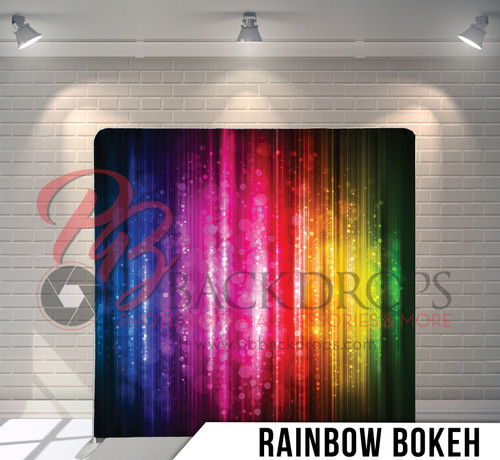 Single-sided Pillow Cover Backdrop  (Rainbow Bokeh)