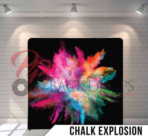 Single-sided Pillow Cover Backdrop  (Chalk Explosion)