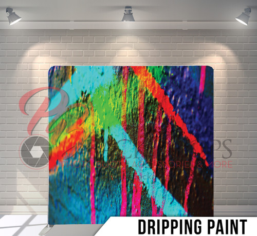 Single-sided Pillow Cover Backdrop  (Dripping Paint)