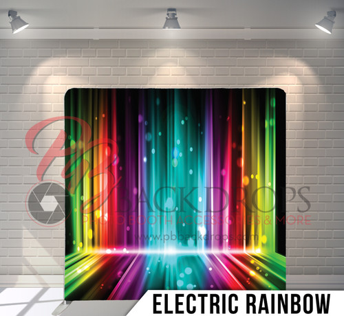 Single-sided Pillow Cover Backdrop  (Electric Rainbow)