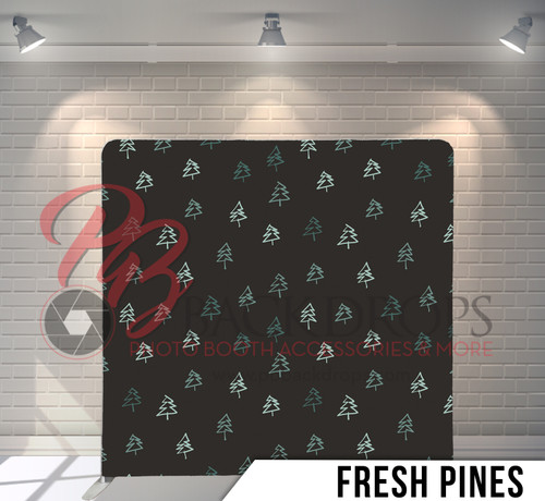 Single-sided Pillow Cover Backdrop  (Fresh Pines)