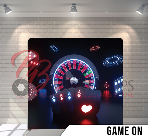 Single-sided Pillow Cover Backdrop  (Game On)