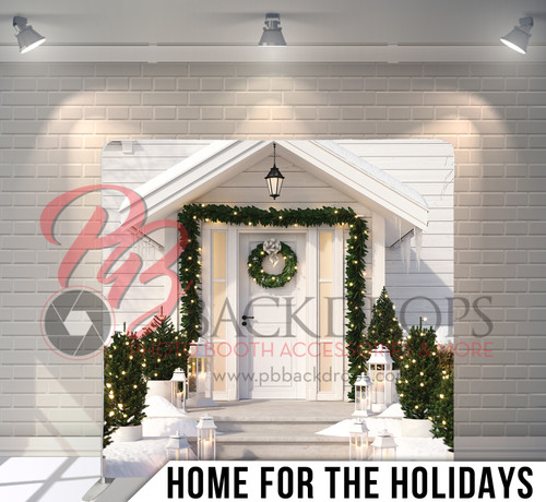Single-sided Pillow Cover Backdrop  (Home for the Holidays)