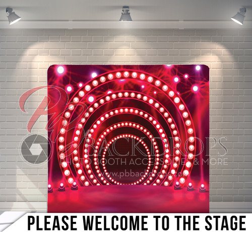 Single-sided Pillow Cover Backdrop  (Please Welcome to the Stage)