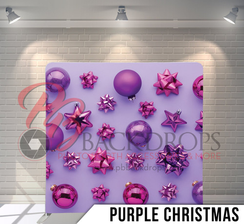 Single-sided Pillow Cover Backdrop  (Purple Christmas)
